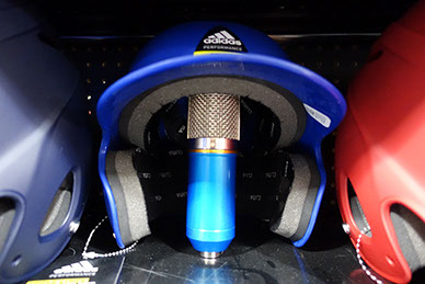 Voice Over Microphone in a Baseball Helmet