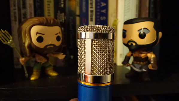 Khal Drogo Aquaman and a Voice Over Microphone
